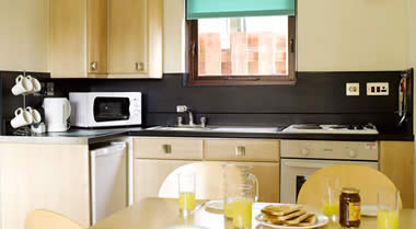 Silver Apartment Kitchen, Minehead