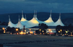 Butlins magnificent Skyline Pavilion at night