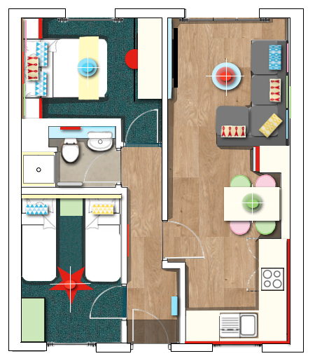 Fairground Apartment at Skegness floor plan