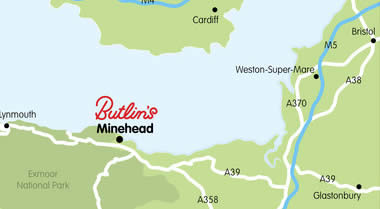 Map showing address of Minehead Resort